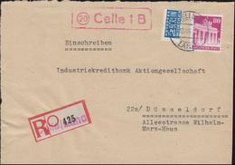 Landpost 20 Celle 1 B Mit Not-R-Zettel CELLE LAND 29.10.49, Briefvorderseite - American/British Zone
