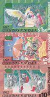 Australia, N920610a - N920633a, 1992 Christmas Set Of 3 Cards, 2 Scans. - Australie