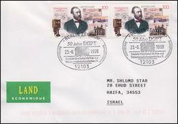 1912 Heinrich Von Stephan MeF Brief SSt Berlin 50 Jahre DGPT 23.6.99 Nach Israel - U.P.U.