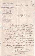 DRÔME - VALENCE - IMPRIMERIE ADMINISTRATIVE & LITHOGRAPHIE - CHENEVIER & CHAVET - LETTRE - 1868 - Imprimerie & Papeterie