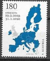 AUSTRIA, 2020, MNH, EUROPEAN UNION, BREXIT, E.U., SOLD OUT , 1v - European Community