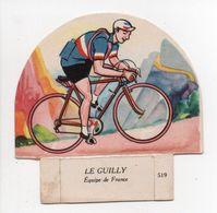 - CHROMO LE PETIT GROSJEAN ET LA VACHE SÉRIEUSE - Série CYCLISME - LE GUILLY N° 519 - - Cromo