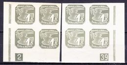 Boheme Et Moravie 1939 Mi 50 (Yv TPJ 9), (MNH)**, 2x Bloc De 4 Avec No De Planche 2-39 - Bohemia & Moravia