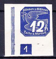 Boheme Et Moravie 1939 Mi 47 (Yv TPJ 6), (MNH)**, No De Planche 1 - Bohemia & Moravia