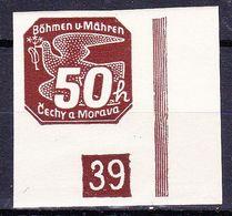 Boheme Et Moravie 1939 Mi 49 (Yv TPJ 8), (MNH)**, No De Planche (2)-39 - Bohemia & Moravia
