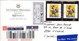 Kanada 1999 Air Mail , Par Avion Registred. Le Centre Sheraton Hotel Montral - Poste Aérienne