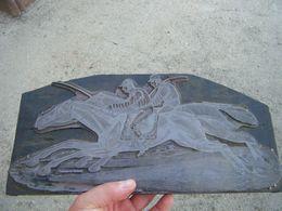 RARE THEME EQUITATION LAURENT ET DEBERNY XIX EME Plaque Imprimerie Thème Hippisme/cheval/1830's - Equitazione