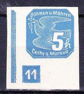 Boheme Et Moravie 1939 Mi 43 (Yv TPJ 2), (MNH)**, No De Planche 11 - Bohemia & Moravia