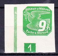 Boheme Et Moravie 1939 Mi 45 (Yv TPJ 4), (MNH)**, No De Planche 1 - Bohemia & Moravia