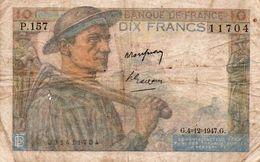 FRANCIA 10 FRANCS 1947  P-99 CIRCULATED - 1871-1952 Circulated During XXth