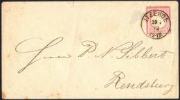 BRUSTSCHILD Nr.19 Brief NDP-K1 JTZEHOE Vom 23.1.1873 Nach Rendsburg Altsignatur Carl H. Lange (rh20) - Briefe U. Dokumente