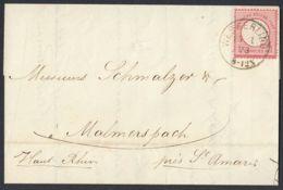 BRUSTSCHILD Nr.19 Brief Sauberer Elsass-K1 WESSERLING Vom 15.1.1873 (rh20) - Brieven En Documenten