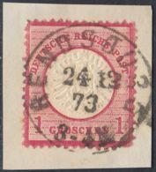 BRUSTSCHILD Nr.19 Sauberer NDP-K1 RENDSBURG Vom 24.12.1873 Geprüft Brugger BPP (cg20) - Gebruikt