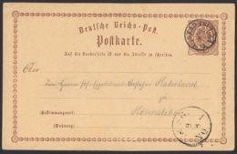 BRUSTSCHILD-GA P1 Mit Sauberem Kleinen Taxis-K1 STADTSULZA Vom 8.8.1873 (cg20) - Briefe U. Dokumente