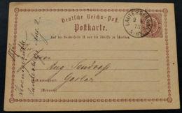 BRUSTSCHILD-GA P1 Sauberer K1 LAUTERBERG A/H. Vom 2.8.1873 (rh20) - Briefe U. Dokumente