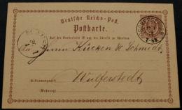 BRUSTSCHILD-GA P1 Sauberer NDP-K1 OSCHERSLEBEN Vom 29.1.1873 (rh20) - Briefe U. Dokumente
