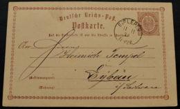 BRUSTSCHILD-GA P1 Sauberer Preussen-K1 EISLEBEN Vom 11.11.1874 Geprüft Sommer BPP (rh20) - Brieven En Documenten