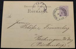 DR-GA 5 Pfg. Sauberer K1 NORTHEIM IN HANNOVER Vom 19.4.1886 Nach Vaihingen / Württemberg (rh20) - Brieven En Documenten