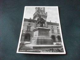 BUSSETO MONUMENTO A G. VERDI SCULTORE COMM. SECCHI  TEATRO VERDI PIEGA ANG. PARMA - Monumentos