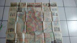 Carte La France Et Ses Colonie - Du Petit Journal - Algérie,tunisie,sénégal,cochine,dahomey ,madagascar,tonkin,cambodge, - Cartes Géographiques