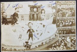 COLLAGE PHOTO POSTALE  ILLUSTRATION THEATRE OPERA ANIMEE PUBLIC  1905 ANVERS BELGIQUE 1905 CACHET BOITE RURAL 11 - Opéra