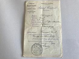 SAUF CONDUIT - 1914 - Commune De MARCIGNY (Saone & Loire) Pour BAUGY & CHAMBILLY - 1914-18