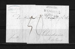 """1850 Forwarded  → Brief Aus Elseneur Dänemark Nach Schiedam Holland, Mit Forwarding-Agenten """"Gebr. Bordier""""     ►RAR◄ - Danimarca"""