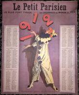 Calendrier 1912 Le Petit Parisien - Femme Clown Jongleuse - 25 X 30 Cm - Assez Bon état - Calendarios