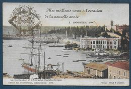 CONSTANTINOPLE -  Hôtel Continental - Mes Meilleurs Voeux....... J. Agostini Pre - Turquie