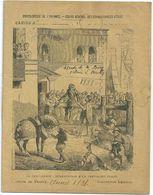 """Cahier Entier 1838 Collection Lebrun Encyclopédie De L'Enfance """"Chevalerie Dégradation D'un Chevalier Félon"""" - Protège-cahiers"""