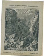 """Cahier Entier 1837 Collection Lebrun Encyclopédie De L'Enfance """"Histoire De France Roland à Roncevaux"""" - Protège-cahiers"""