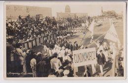 CARTE PHOTO : CALI (COLOMBIE) - 1ers JEUX OLYMPIQUES NATIONAUX EN 1928 - 12 DELEGATIONS DONT UNE DE CUNDINAMARCA - RARE - Colombie