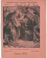"""Cahier Entier 1836 Collection Lebrun Encyclopédie Enfance """"Invention L'Imprimerie Bible Présentée à Louis XI"""" Avrilly - Protège-cahiers"""