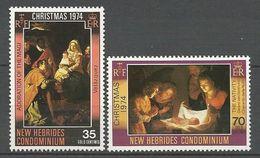 NOUVELLES-HEBRIDES N° 406 Et 407 NEUF**  SANS CHARNIERE   / MNH - English Legend