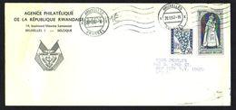 RWANDA - LETTRE ENTETE AGENCE PHILATELIQUE DU RWANDA à BRUXELLES - 1967 - KB01 - Rwanda