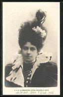 Cartolina S. A. R. La Principessa Letizia Duchessa D`Aosta - Case Reali