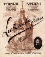 19142-J-  PUBLICITE SUR SUPPORT STYLE  BUVARD 21CMX26.5CM LABOUCHE FRERES IMPRIMERIE CPA TOULOUSE - Publicités