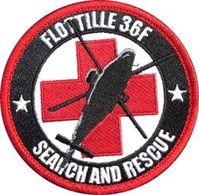 AERONAVALE Patch Flottille 36F SAR SEARCH AND RESCUE - Scudetti In Tela