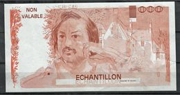 Probedruck Testbanknote Specimen Frankreich 1988 Echantillion Balzac - Fiktive & Specimen