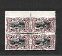 COB N° 69 V 50 C Brun Li Lacé En Blocs De Quatre Bilingues Cote 48,00 € X WITHOUDGUM - 1894-1923 Mols: Mint/hinged