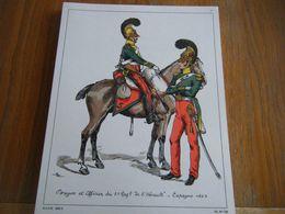 Planche De 1969 FRAGON ET OFFICIER DU 5 EME REGIMENT DE L'HERAULT ESPAGNE 1823 - Books, Magazines  & Catalogs