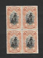 COB N° 71 5f Orange En Blocs De Quatre Bilingues  Cote 22.00 € XX MNH - 1894-1923 Mols: Mint/hinged