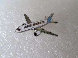 PIN'S   AIR  INTER    Email Grand Feu - Avions