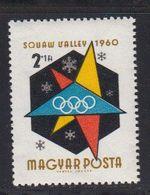 Hongrie 1960 Yvert 1359 ** JO D'hiver à Squaw Valley. - Ungarn