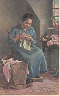 Schweiz Bundesfeier Gelaufen 1926 - Notleidende Mütter - Sool Glarus - Näherin Bonsai Wiege - Interi Postali