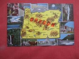 Map Greeting   - Oregon   Ref 4187 - Etats-Unis