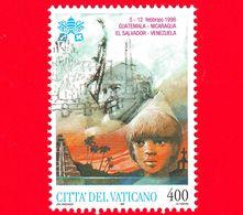 VATICANO - Usato - 1997 - Viaggi Di Giovanni Paolo II Nel 1996 - 400 L. - Guatemala, Nicaragua, El Salvador, Venezuela - Vatican