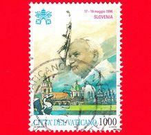 VATICANO - Usato - 1997 - Viaggi Di Giovanni Paolo II Nel 1996 - Slovenia - 1000 - Vatican