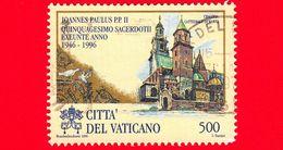 VATICANO - Usato - 1996 - Ordinazione Sacerdotale Di Sua Santità Giovanni Paolo II - 500 L. • Cattedrale Wavel, Cracovia - Vatican