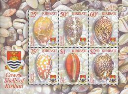 Kiribati 2003, Cowrie Shells Of Kiribati, MNH Sheet - Kiribati (1979-...)